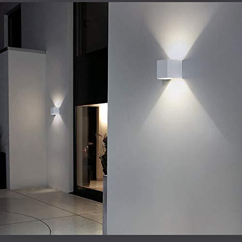 Topmo-plus pivotante Focos pared escalera Luz pared curso Bañadores de pared volvible apliques pared / 12W LED bridgelux COB / 1320LM aluminio Arriba y Abajo Diseño blanco natural 10CM: Amazon.es: Iluminación