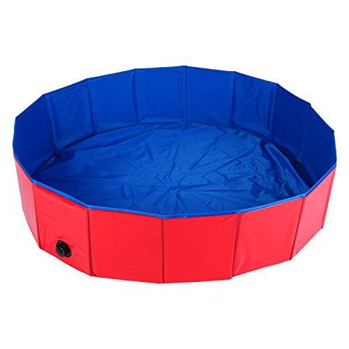 Dasmarine Piscina portátil plegable de PVC para mascotas, piscina para perros, gatos, bañera, bañera, lavabo, estanque de agua (120 x 30 cm)