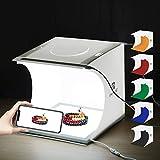 PULUZ Kit de estudio fotográfico portátil 24 x 23 x 22 cm Caja de luz plegable Panel iluminado LED sin sombra con 6 fondos para fotografiar productos pequeños