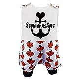 Eve Couture Babykleidung Baby Strampler Junge Mädchen Seemannsherz Anker Herz Rockabilly rot schwarz (50/56)