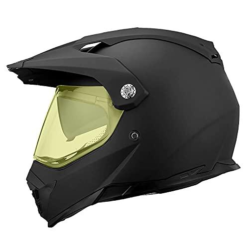 Casco de cara completa negro tonto con gafas, guantes, máscara, casco, MTB, motocicleta para adultos, casco de motocross, conjunto de casco de protección para motocicleta todo terreno 5,M