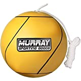 Murray Sporting Goods Tetherball and Rope - Full-Size Soft Rubber Portable Tetherballs with Rope (Yellow)