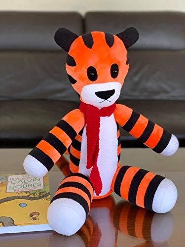 Handmade 14'' Hobbes Tiger Plush Soft fleece Stuffed Hobbes Toys...