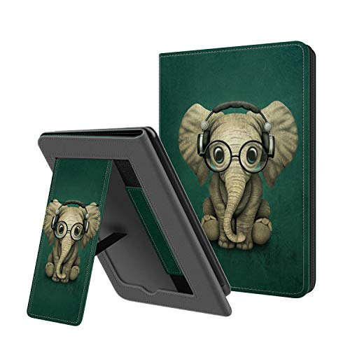 OLAIKE Opvouwbare hoes voor nieuwe Kindle 10e generatie 2019 release – Duurzame hoes met automatische Wake/Sleep, Lichtgewicht handsfree Stand Cover met handriem (niet geschikt voor Kindle Paperwhite), de olifant