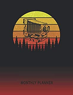 Monthly Planner: Stereoscope Camera | 2 Year Planning for Jan 2020 to Dec 2021 | Retro Vintage Sunset Cover | January 20 - December 21 | Planning Organizer Writing Notebook | Productive Datebook Calendar Schedule | Plan Days, Set Goals & Get Stuff Done