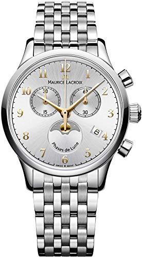 Maurice Lacroix Les Classiques LC1087-SS002-121-1 Reloj Indicador de la Fase Lunar