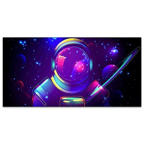 Astronaut in SpaceFluorescent Light Coverings Astronaut in Space Field Light Filters for Classrooms Office Reduce Glare Decorative Ceiling Light Covers