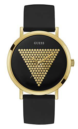 Guess Herren Analog Quarz Uhr mit Silikon Armband W1161G1
