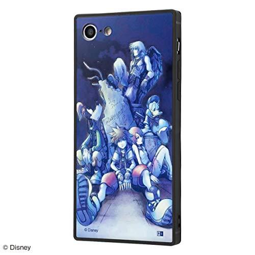 ディズニー iPhone SE(第2世代) / iPhone 8 / iPhone 7 ハイブリッド ケース カバー KAKU 耐衝撃 衝撃吸収 [ ストラップ ホール 付き 通し穴 ] スクエア 軽量 かわいい オシャレ SILK キングダムハーツ/道し