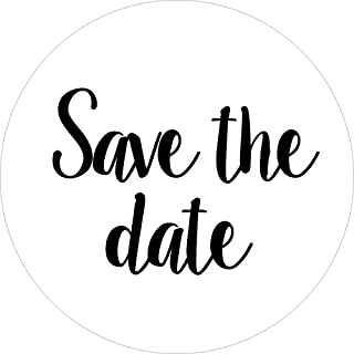 40-Pack, 2inch White Save The Date Stickers, Save The Date Labels, Envelope Seals