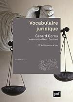 Vocabulaire juridique de Gérard Cornu