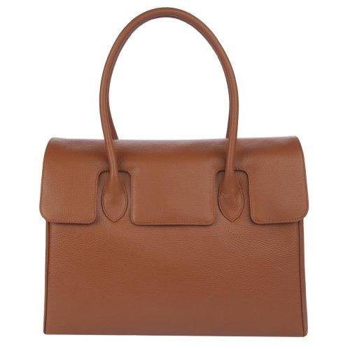 diboni Handtasche MADISON DE LUXE aus Leder (Moccasinbraun)