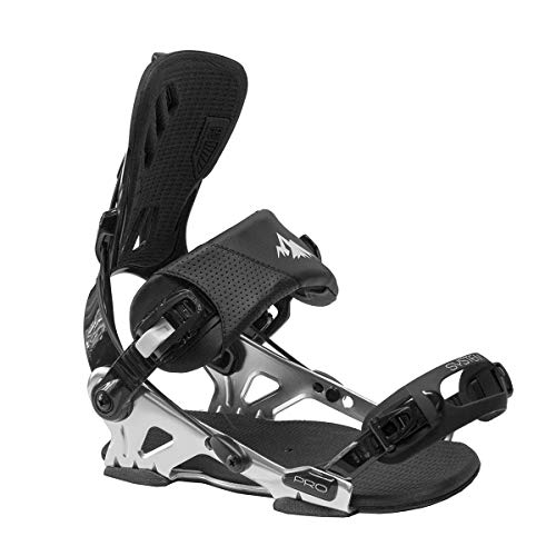 System Pro Freeride Men's Rear Entry Step in Style Snowboard Bindings 2021 (X-Large)