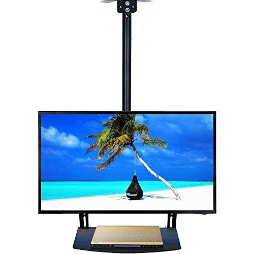 Ezcheer - Soporte de Pared para televisor de Techo (se Adapta a Pantallas LCD de 22 a 65 Pulgadas, Pantalla Plana LED, Altura Ajustable con Soporte de TV Incluido)