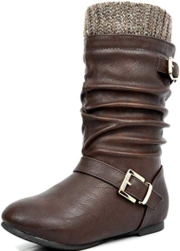 Cape Robbin Kelsey-21 Cowboy Boots Women, Over The Knee Western Cowgirl Boots with Chunky Block Heels, Fashion Dress Boots for Women - Black Size 9