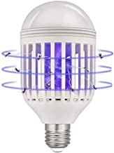 Bug Zapper Light Bulb, 2 in 1 Mosquito Killer Lamp LED Electronic Insect & Fly Killer Fits E26 Light Socket For Indoor Outdoor