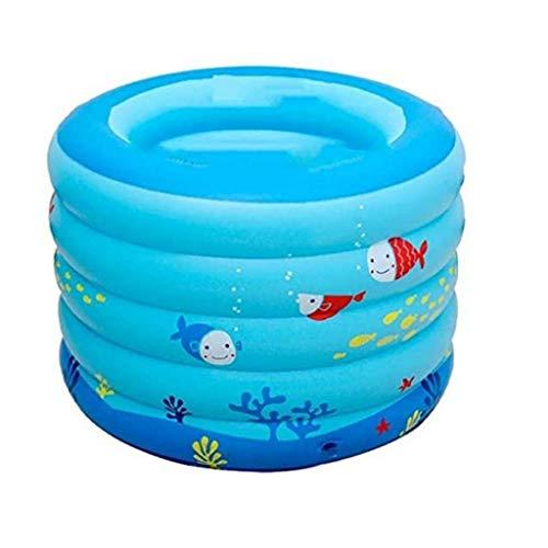XYZMDJ PP Draagbaar Babybad, Opblaasbaar Zwembad voor klein huis, Douchebak voor baby's met Zacht Kussen Centrale Stoel