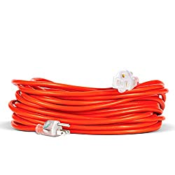 professional Outdoor extension cable, 25 feet, illuminated socket, very long, durable, flame retardant …