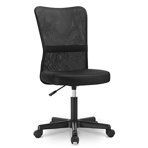 Life Carver Mesh Middle Back Executive Adjustable Swivel Office Chair Lumbar Support Computer Desk Chair (Black)