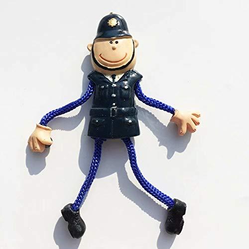 Weekino Poliziotto d'Irlanda Calamità da frigo 3D Polyresin Tourist City Viaggio Souvenir Collezione Regalo Forte Frigorifero Sticker