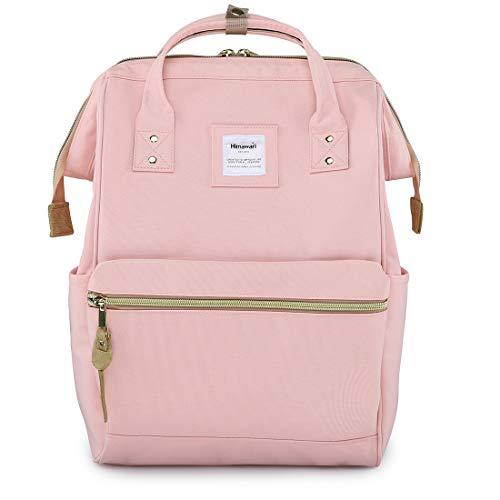 Himawari Travel School Backpack with USB Charging Port 15.6 Inch Doctor Work Bag for Women&Men College Students(H900d-L USB Pink)