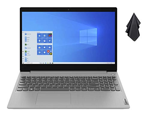 2021 Newest Lenovo IdeaPad 3 15.6' HD Touch Screen Laptop, Intel Quad-Core i5-1035G1 Up to 3.6GHz (Beats i7-8550U), 12GB DDR4 RAM, 256GB PCI-e SSD, Webcam, WiFi 5, HDMI, Windows 10 S + Oydisen Cloth
