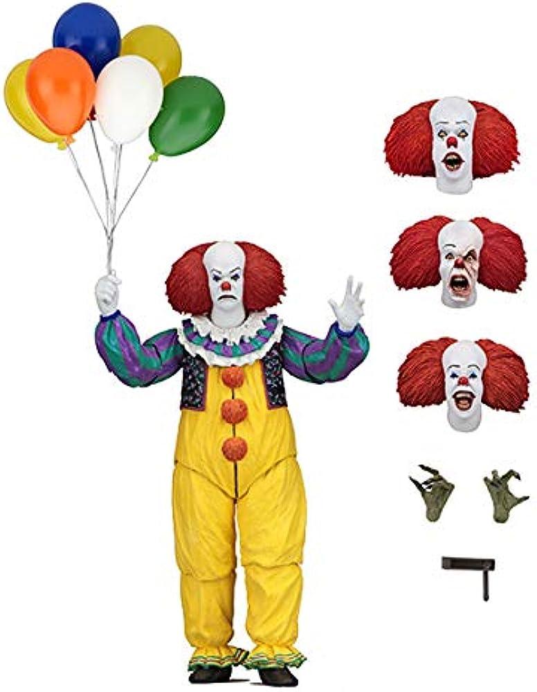 Neca ,statuetta di pennywise the killer clown takes e accessori 45460