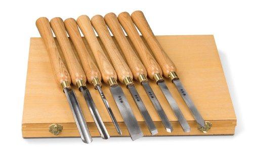 Holzstar Drechseleisen-Set (8-teilig, Hohlbeitel, Absechbeitel, Schruppstahl, Rundbeitel, Drechselbeitel), 5931011