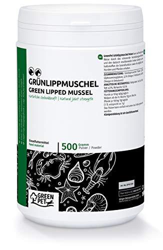GreenPet Polvo de mejillón de Labios Verdes Perro & Caballo 500g - Soporte de Las articulaciones, función de Las articulaciones, Huesos, ligamentos y tendones, Polvo de Nueva Zelanda