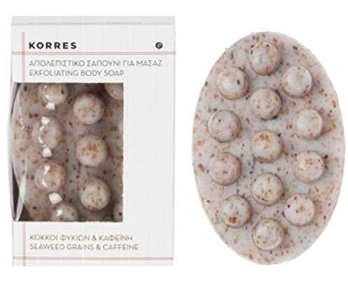 Korres EXFOLIANT BODY SOAP /SEAWEED GRAINS & KAFFEINE,1er Pack (1 x 125 g )
