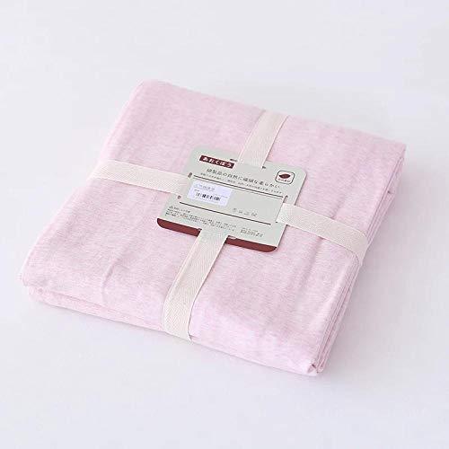 HPPSLT Sábana Ajustable súper Suave, cálida y acogedora Sábana Pure Color Stripes-Pure Pink_150 * 200 + 25cm