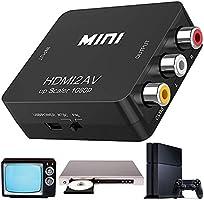 HDMI to AV 変換コンバーター【日本語取扱説明書付き】HDMI to RCA コンポジット HDMI AVアダプター ケー ブル付き テレビ/PS3 /PS4 /XBOX/PC/BDプレーヤー/カーナビ用 変換コンバーター