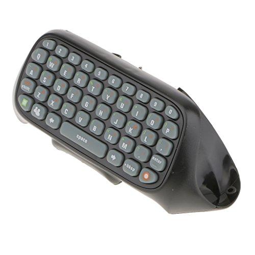 Wireless Tastatur Chatpad Keyboard (QWERTY) für Xbox 360 Controller - Schwarz