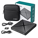 External Blu-ray DVD Drive,Haiway USB 3.0 and Type-C Blu-Ray Burner 5 in 1 DVD Burner 3D Slim Optical Bluray CD DVD Drive Compatible with Windows XP/7/8/10, MacOS for MacBook, Laptop, Desktop
