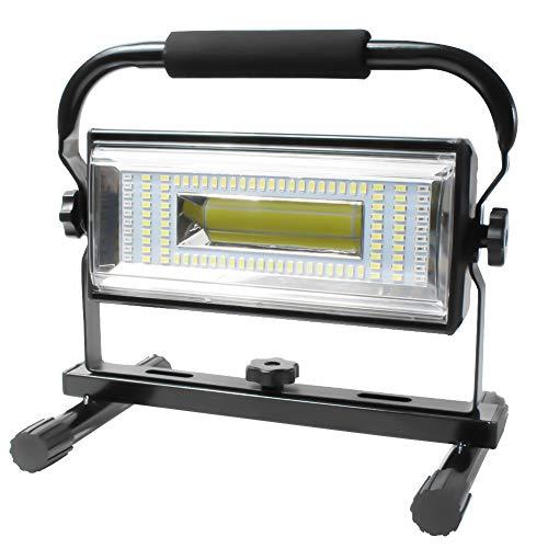 AF-WAN 100W Projecteur LED Rechargeable 7000 Lumens Projecteur de Chantier Super Brillante Lamp Puissante LED Spot IP65 Étanche pour Travaux d'atelier, Garage, Terrasse, Jardin (Noir)