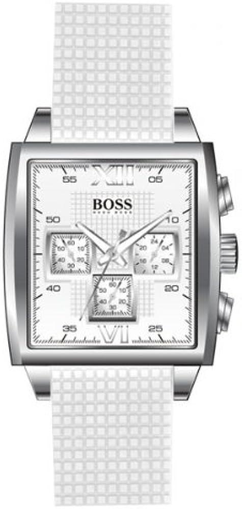 Hugo boss,orologio cronografo per donna, cassa in acciaio,cinturino in silicone 1502208