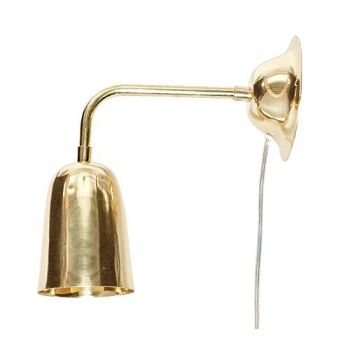 Designer-wandlamp, messing, groot, goudkleurig