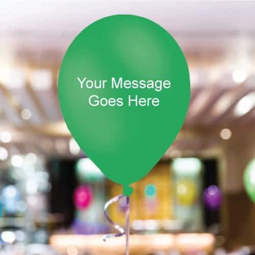 35 globo personalizado de color APP-GREEN 11 pulgadas qualtex