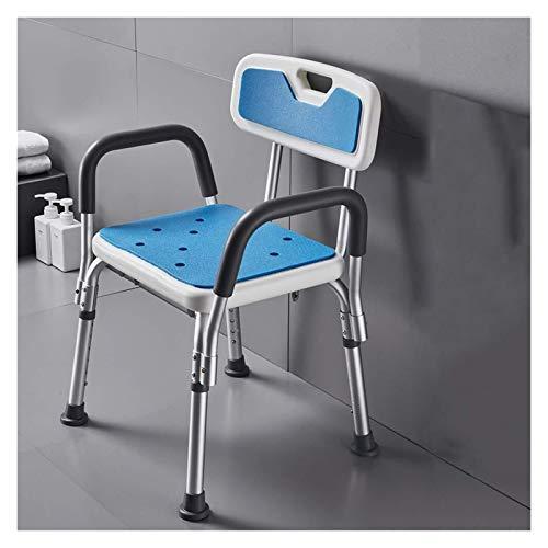 MGC Sedili for Doccia Sgabello for Doccia for impieghi gravosi, Adulto Aiuto for Doccia disabili, Panche for sedie for Doccia ad Altezza Regolabile con Schienale e Braccia (Color : White)