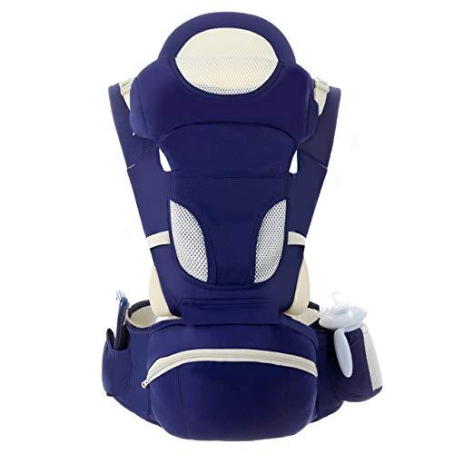 Portabebés ergonómico Mochila portabebés Asiento para la cadera para recién nacidos y evita que las piernas tipo o hundan canguros de bebé