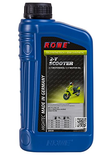 ROWE Hightec 2-T Scooter - 1 Liter Motorenöl, 2-Takt, teilsynthetisch, für Roller/Scooter | Made in Germany