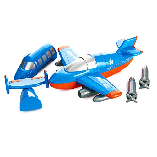 Magnetic Build-a-Plane Magnetic Toy Play Set, 12 Pieces, Colors May Vary