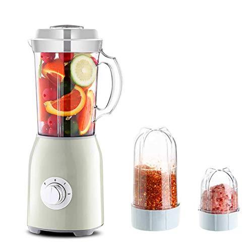 Smoothie-mixer, 3-in-1 multifunctionele smoothiemaker, Personische mixer met hakselaar en maalwerk, keukenmachine, 304 roestvrijstalen messen, voor ijsdrogen, smoothie