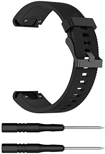 Chainfo compatível com Garmin Fenix 5S/5S Plus (42MM) / Fenix 6S/6S Pro Pulseira de Relógio, Pulseiras de Reposição de Pulseira de Silicone Macio Premium (Pattern 10)