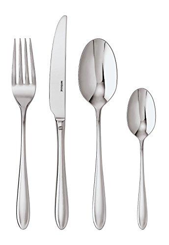 Sambonet 52515-81 Dream-Set di Posate da Tavola Monoblocco in Acciaio Inox 18/10, per 6 Persone, 24 Pezzi: 6 forchette, 6 cucchiai, 6 coltelli, 6 cucchiaini da tè, Inossidabile