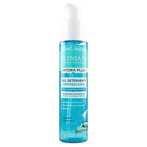 CLINIANS HYDRA PLUS, gel detergente facial refrescante para pieles normales o mixtas, con Jugo de Aloe Vera, 150 mL