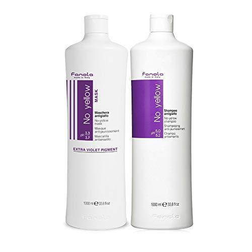 Kit No Yello Fanola Shampoo 1000 ml + Maske 1000 ml