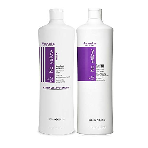 Kit No Yello Fanola shampoo 1000 ml masker 1000 ml