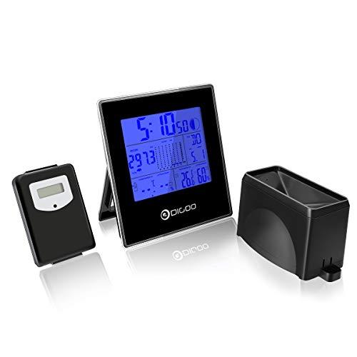 Digoo Gartenbau Regenwassermessung 3 in 1 Garten Hygrometer und Thermometer mit Sensor-Gerät