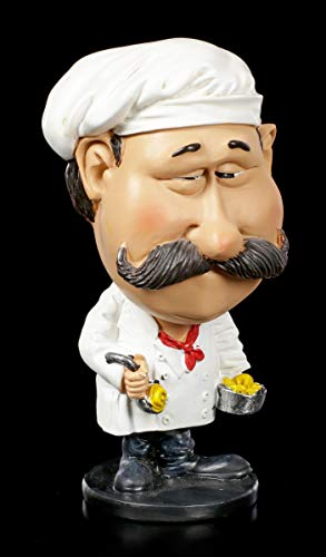 Funny Job Figur - Wackelkopf Koch | Witzige Dekofigur, handbemalt